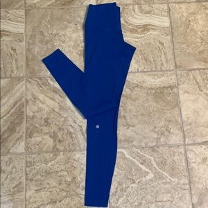 Lululemon royal blue wonder under leggings